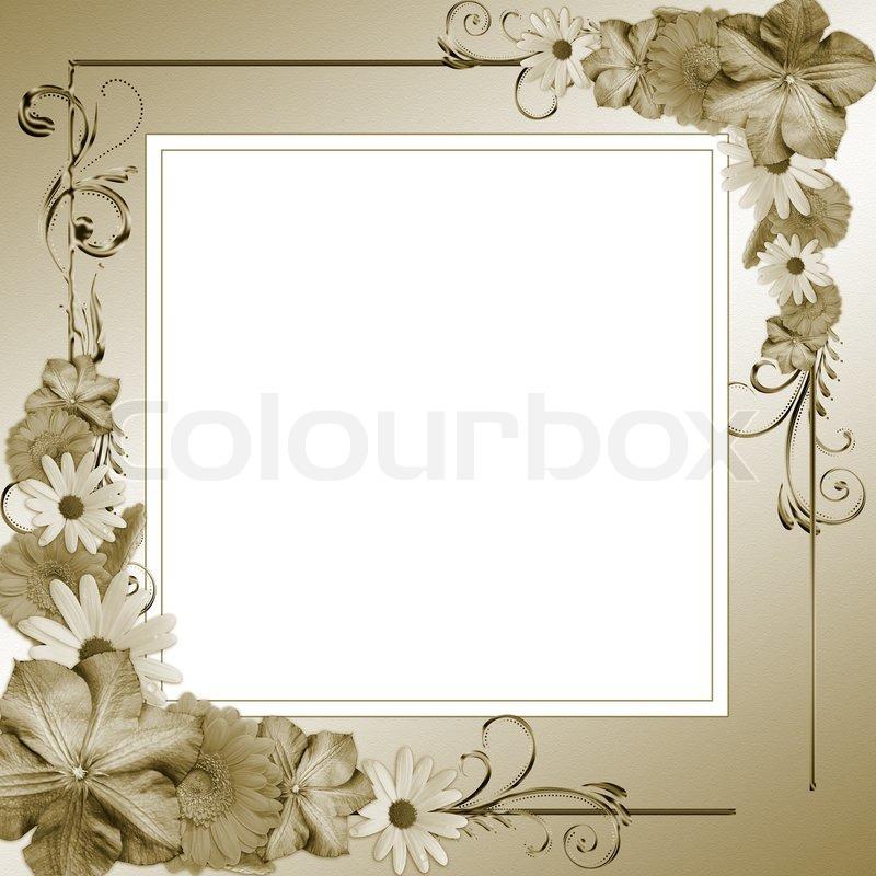 Dekorative Blumen -Rahmen | Stockfoto | Colourbox