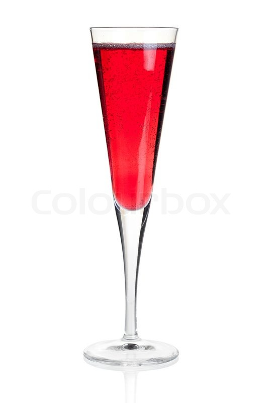 cocktail collection kir royal with champagne isolated on white background stock photo. Black Bedroom Furniture Sets. Home Design Ideas