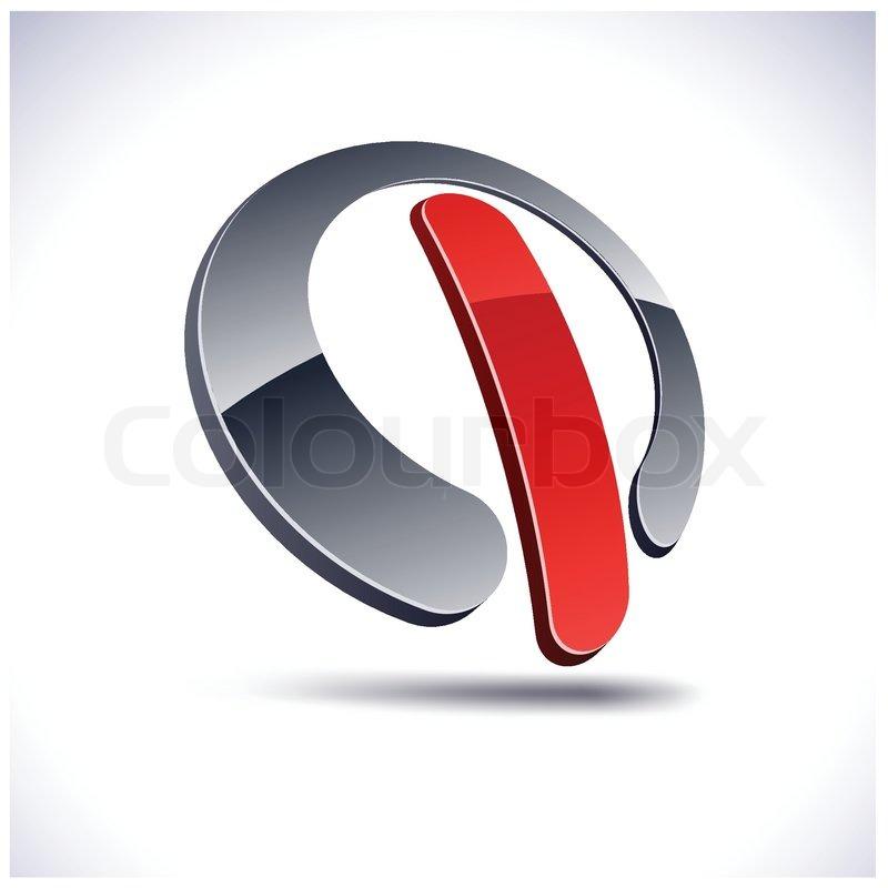Abstrakte moderne 3d wechseln Logo. Vektor. | Vektorgrafik | Colourbox