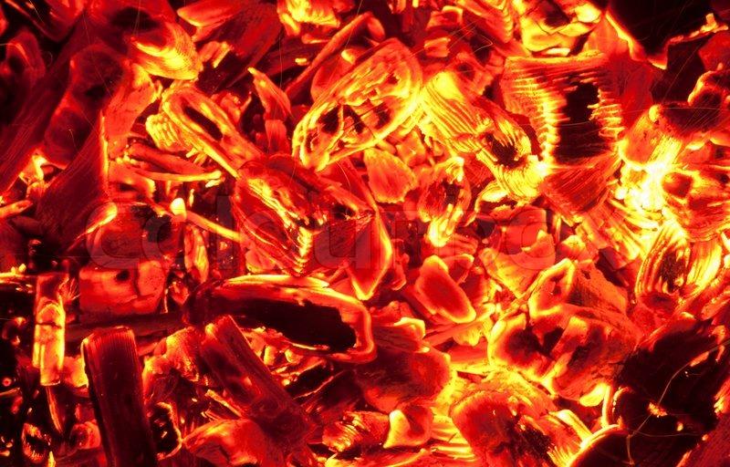 Red Hot Coals Stock Photo Colourbox