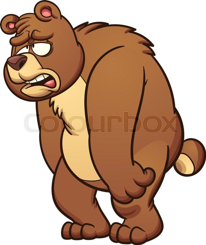 Sad Cartoon Bear Vector Clip Art Stock Vector Colourbox