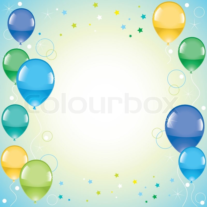 Vector greeting card with balloons stock vector colourbox m4hsunfo