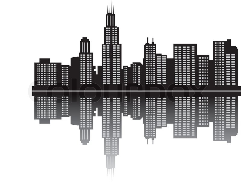Chicago Skyline Stock Vector Colourbox
