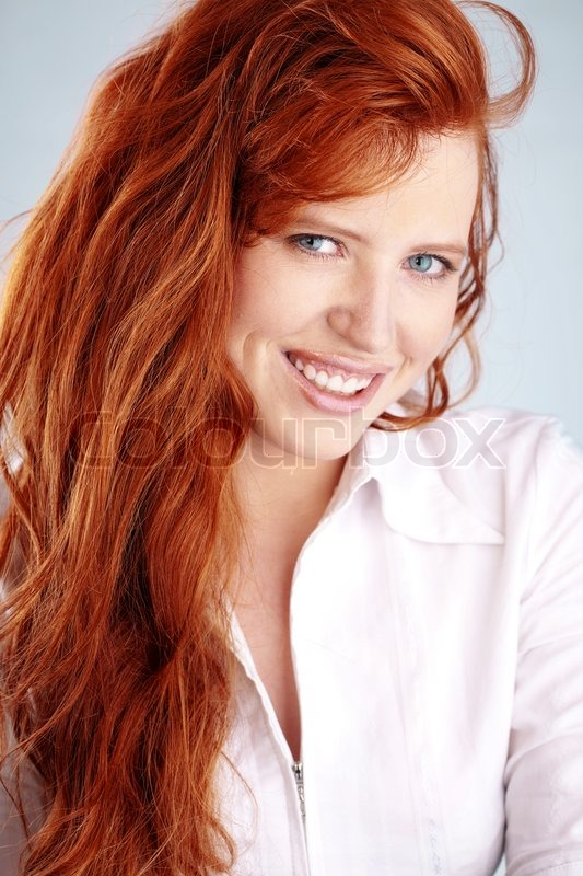 photo of beautiful redheaded woman stock photo colourbox. Black Bedroom Furniture Sets. Home Design Ideas