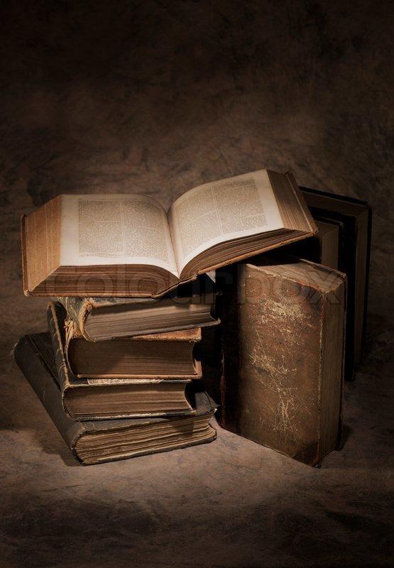 Still life of old antique books | Stock Photo | Colourbox