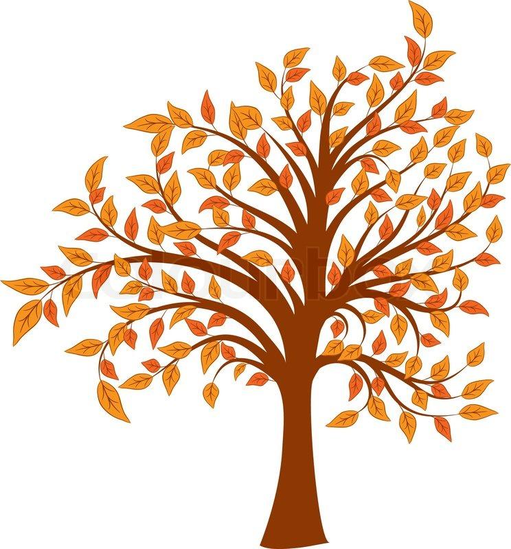 autumn tree vector illustration stock vector colourbox rh colourbox com Autumn Leaves Clip Art free clipart of autumn trees