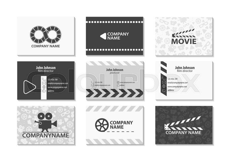 Vector set of creative business cards cards for movie film maker vector set of creative business cards cards for movie film maker producer stock vector colourbox colourmoves