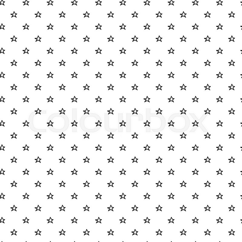 Abstract Doodle Star Pattern With Hand Drawn Stars. Cute Vector Black And  White Star Pattern. Seamless Monochrome Star Pattern For Fabric,  Wallpapers, ...