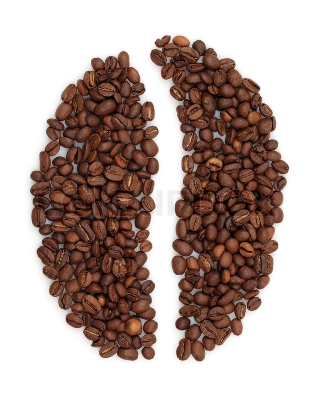 grain coffee from beans on white background stock photo colourbox. Black Bedroom Furniture Sets. Home Design Ideas