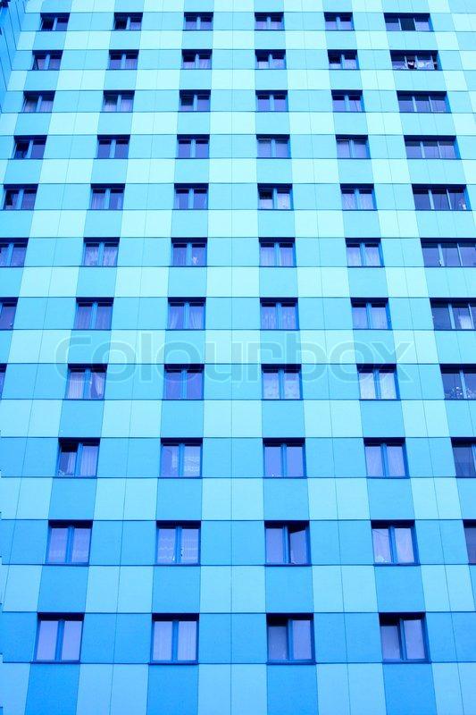 Viele fenster der modernen wohnung hochhaus stockfoto for Viele fliegen in der wohnung