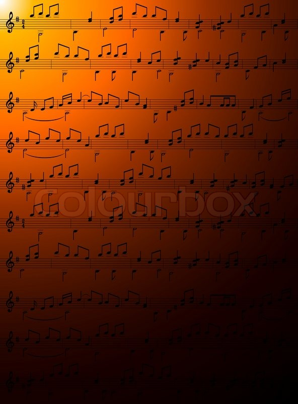 Music notes wallpaper Vector Stock vector