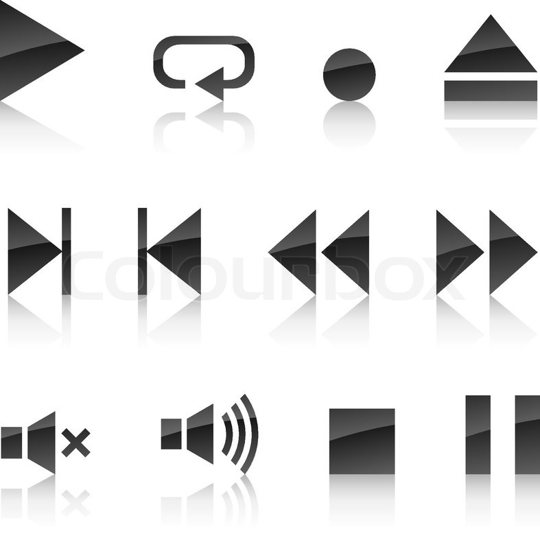 Player Icons Vector Player Icon Collection Vector