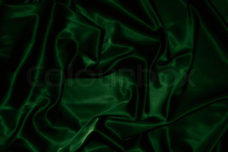 Texture Of A Dark Green Silk Stock Photo Colourbox