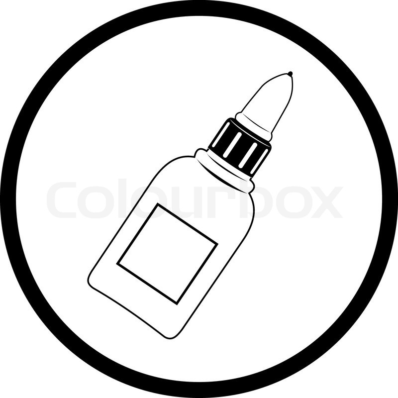 Stock vector of 'Vector icon of glue bottle'