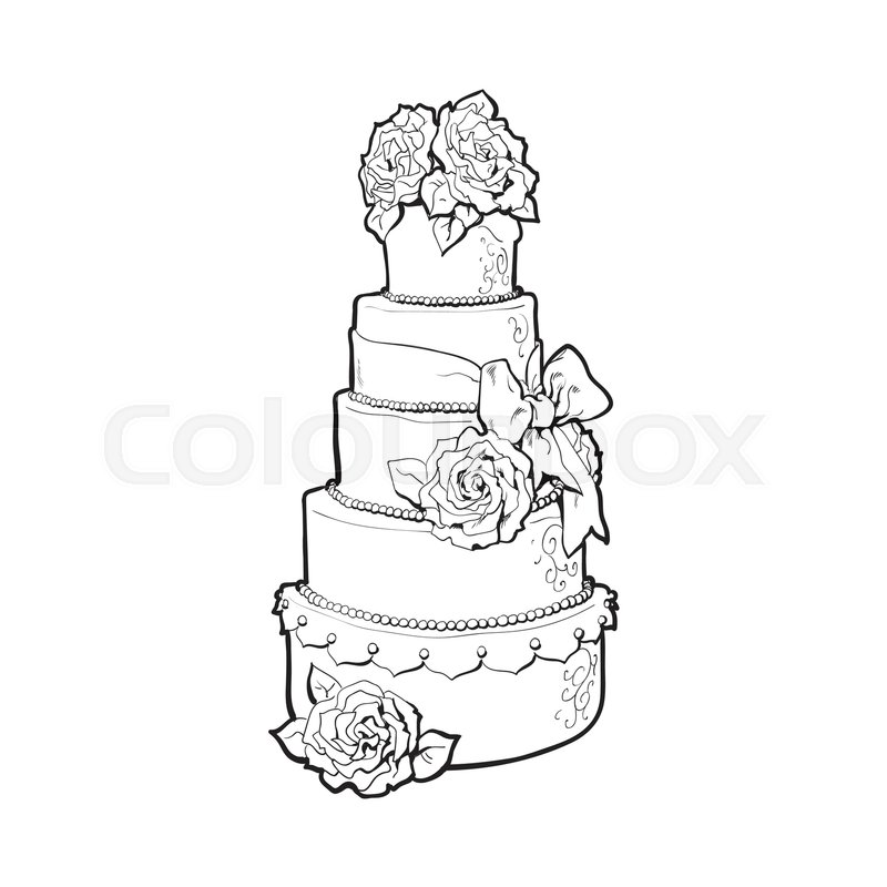 Cutting The Wedding Cake Cartoon