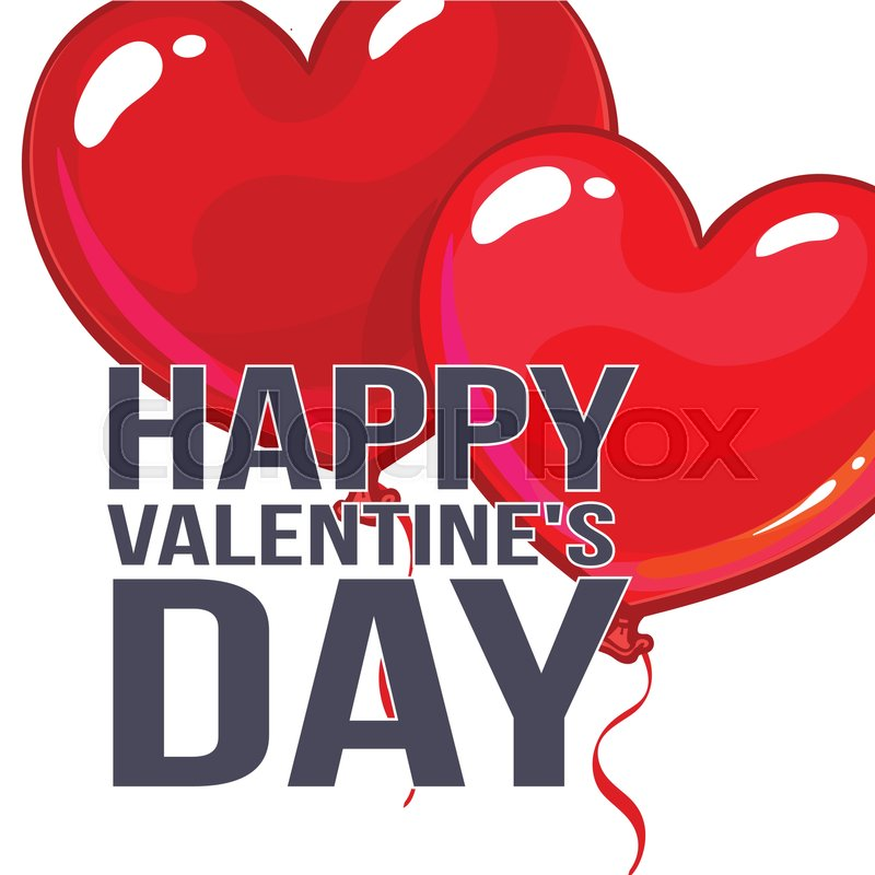 Valentine day greeting card with a bunch of glossy heart shaped stock vector of valentine day greeting card with a bunch of glossy heart shaped balloons m4hsunfo