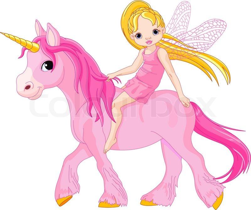 riding unicorn Girl