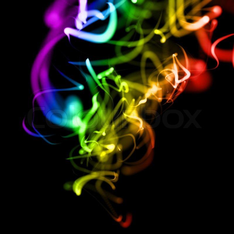 hellen bunten wellenlinien glatte neon hintergrund in sicht stockfoto colourbox. Black Bedroom Furniture Sets. Home Design Ideas