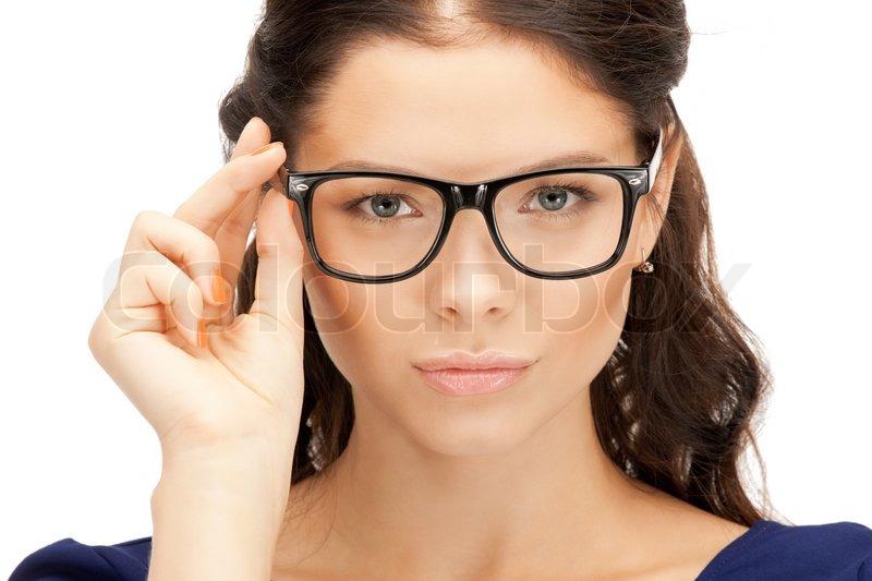 Geiles Girl Mit Brille