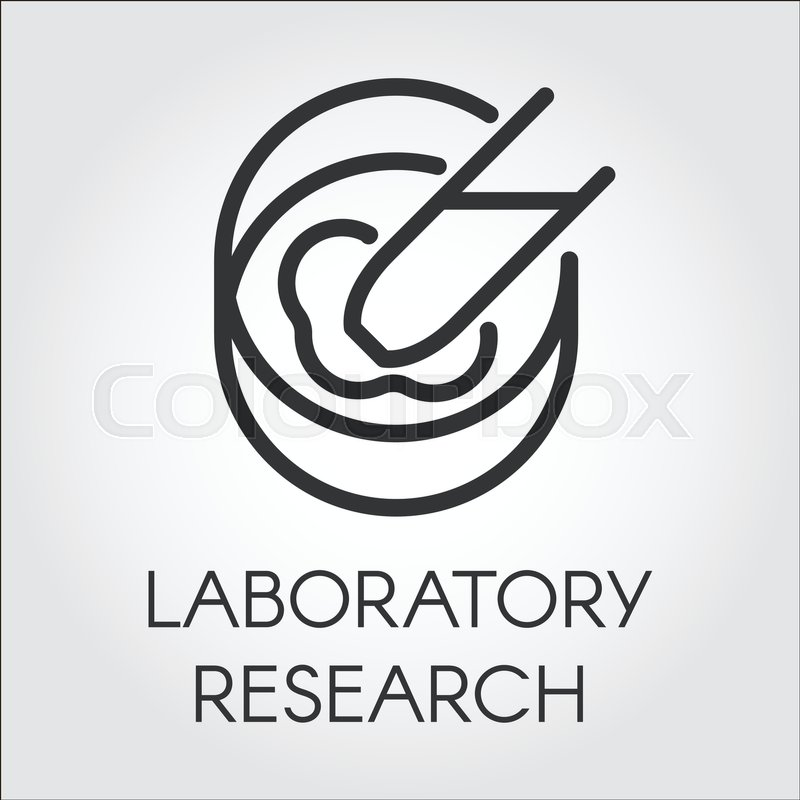 Black Symbol Of Laboratory Research And Experiments Pixel Perfect