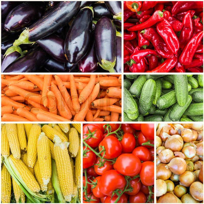 Collages of fresh vegetables. vegetables background, stock photo