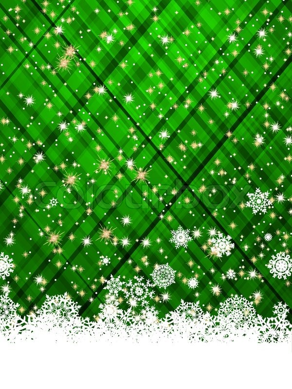 green christmas background vector illustration vector