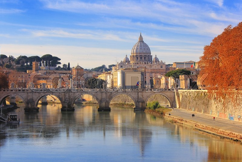 Autumn Landscape With View At Vatican Stock Image