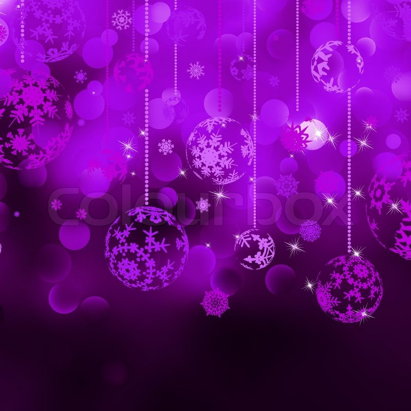 Christmas bokeh background with baubles | Stock Vector | Colourbox