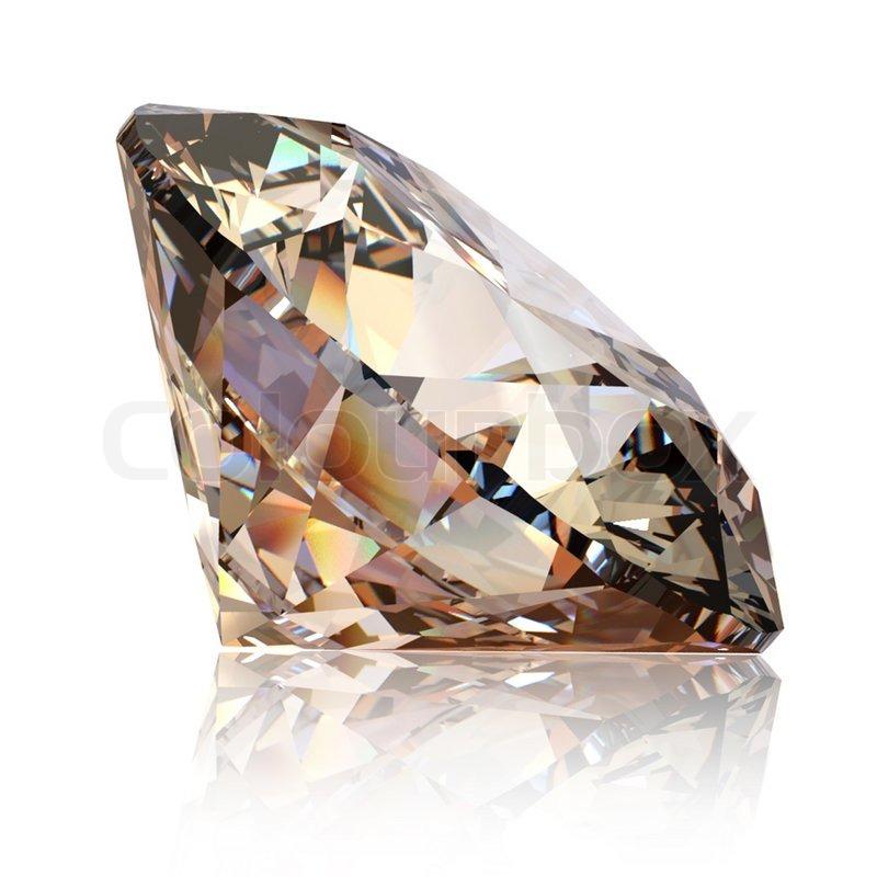 Round Cognac Diamanten isoliert auf weißem Hintergrund | Stockfoto ...
