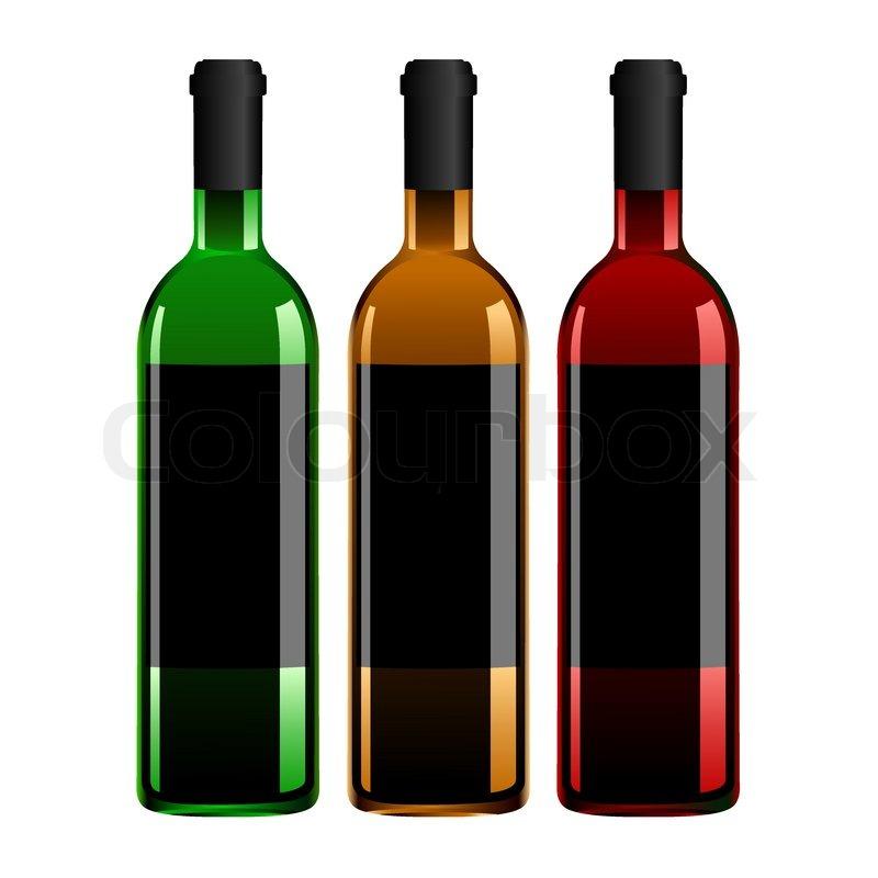 wine bottles vector stock vector colourbox rh colourbox com wine bottle vector silhouette wine bottle vector white