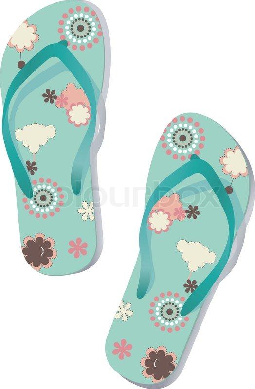 103194641c0d1 Pair of flip flops. Vector.