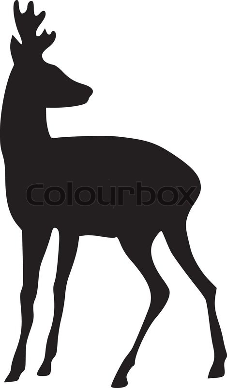 silhouette der rehe vektorgrafik colourbox. Black Bedroom Furniture Sets. Home Design Ideas