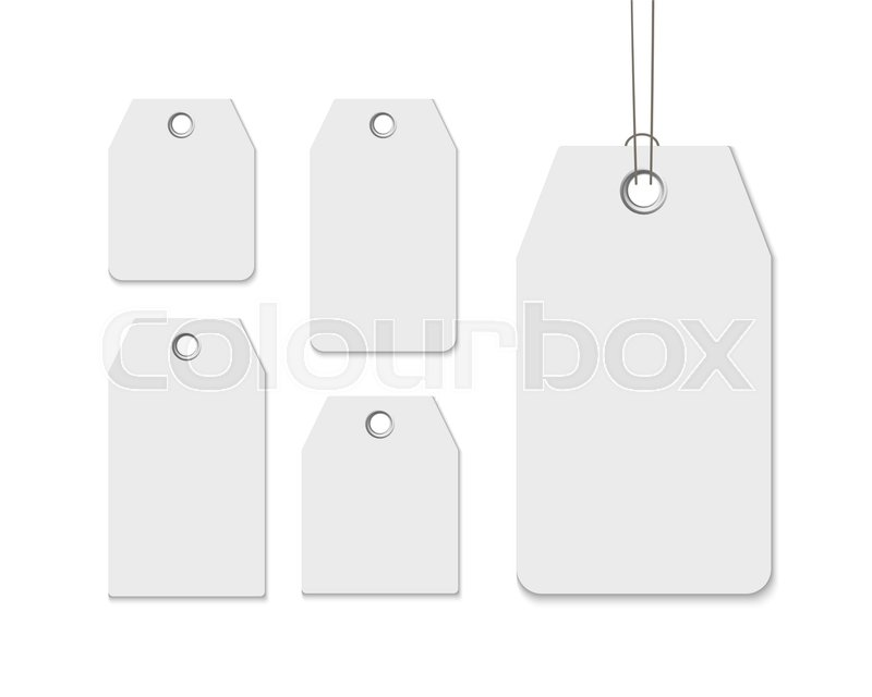 Blank Labels Template Price Tags Set Realistic Vector Isolated On