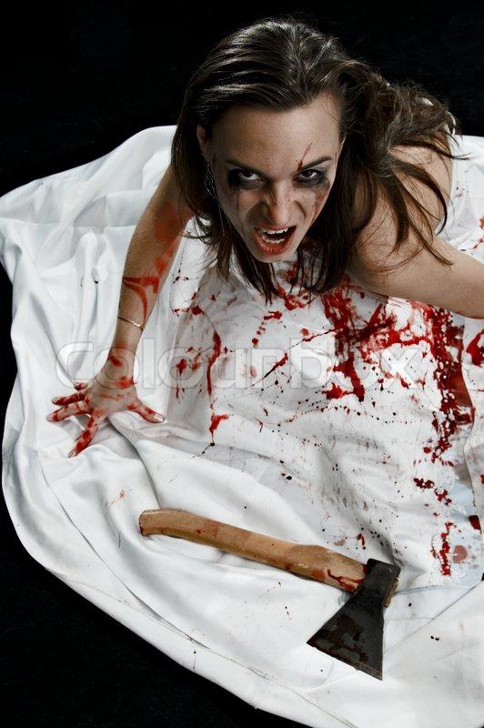 Frau Mit Machete Getötet