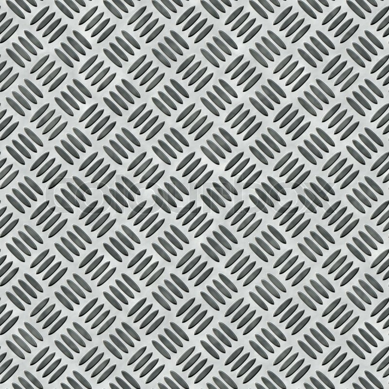 A Diamond Plate Ped Metal Texture That Tiles Seamlessly As Pattern In Any Direction Stock Photo