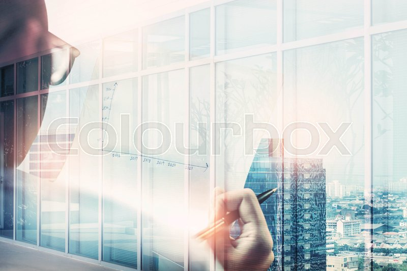 Women working in the office of social business, stock photo