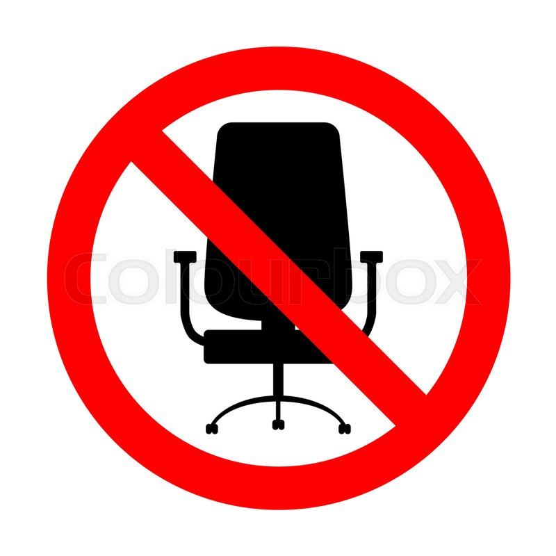 No Office Chair Sign Stock Vector Colourbox