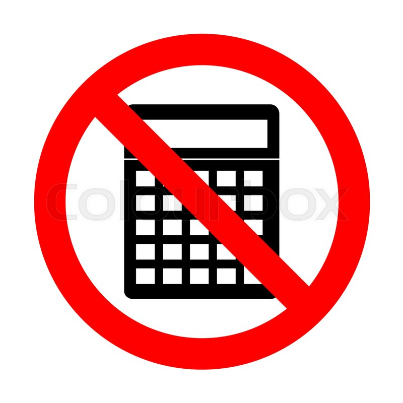 No Calculator Simple Sign Stock Vector Colourbox