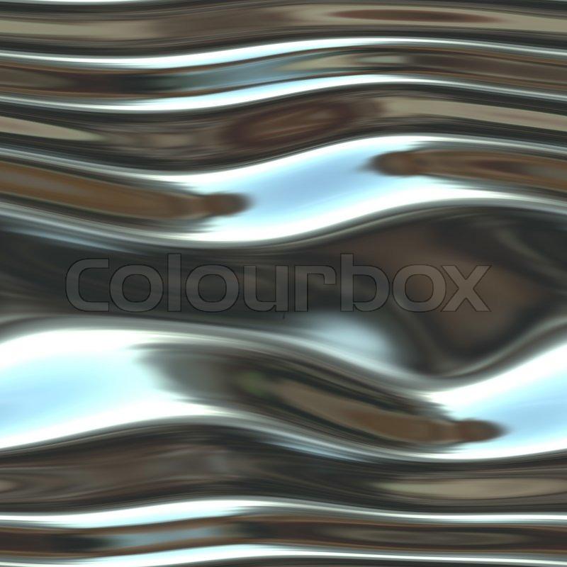 A shiny, chrome background- very fluid-like and liquid ...
