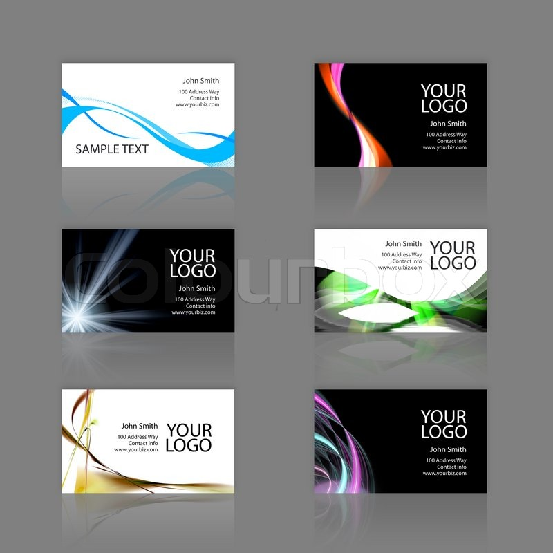 An assortment of 6 modern business cards - templates that are ...