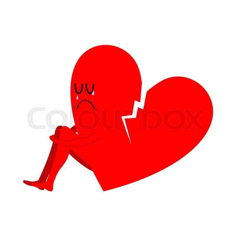 Broken Heart Symbol Of Unrequited Love Sad Sign Of Betrayal And