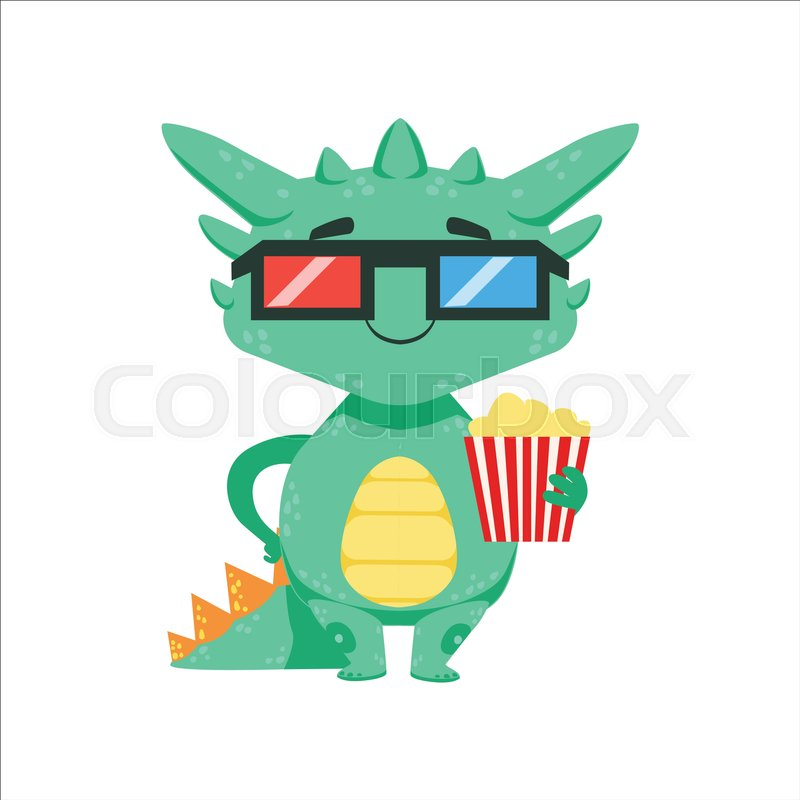 Little Anime Style Baby Dragon In Stock Vector Colourbox