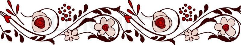 Seamless horizontal border with stylized pretty flowers stock seamless horizontal border with stylized pretty flowers vector mightylinksfo