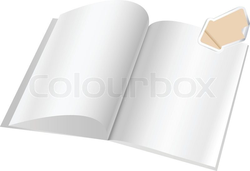 Magazine Blank Page Template With Arrow For Design Stock Vector