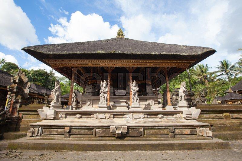 Architecture of temple in Bali, Indonesia, stock photo