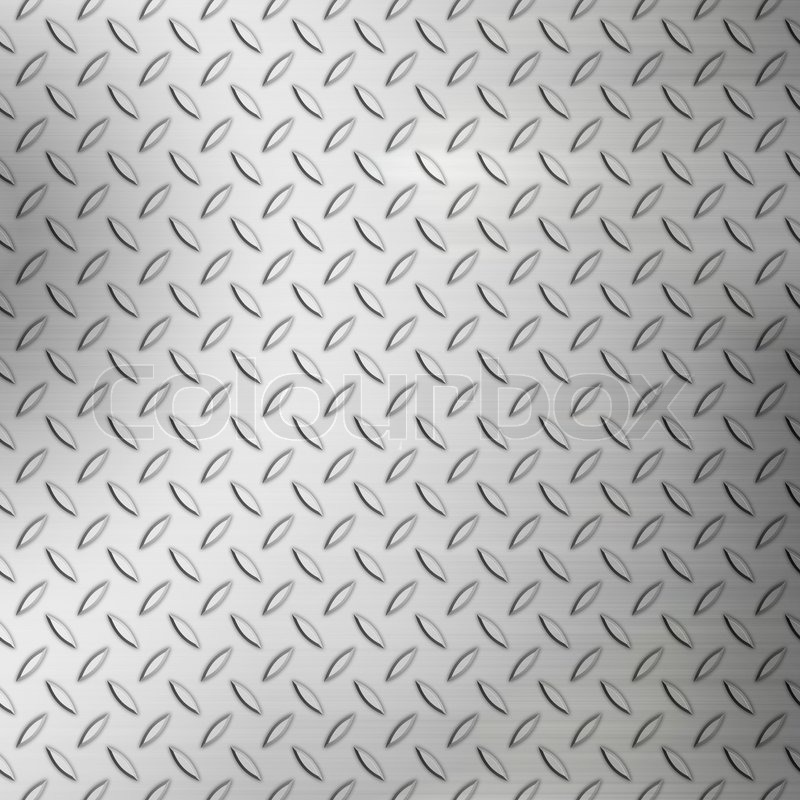 Steel Diamond Plate Background Pattern With Brushed