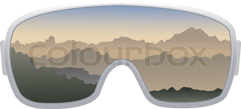 Ski Goggles Vector Ski Goggles Isolated on