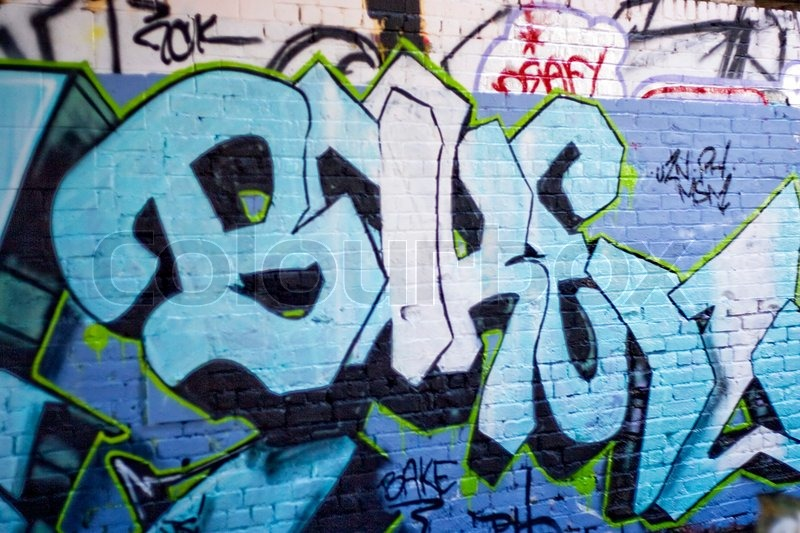 An Abandoned Area That Is Covered With Graffitithis Makes