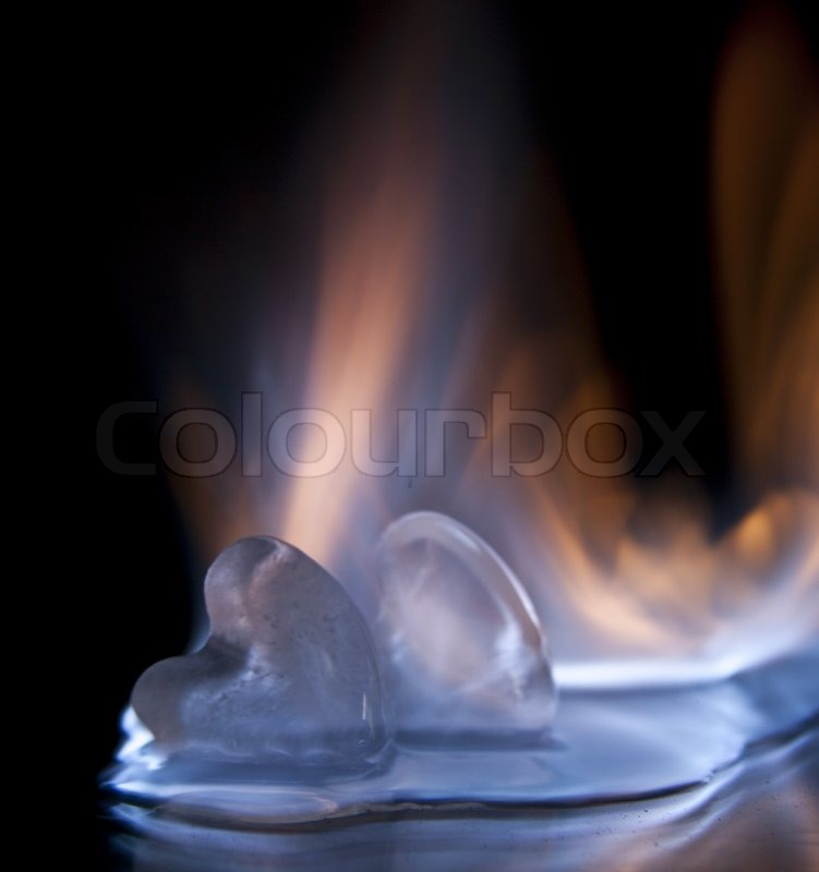 Fire And Ice Cube Stock Photo Colourbox