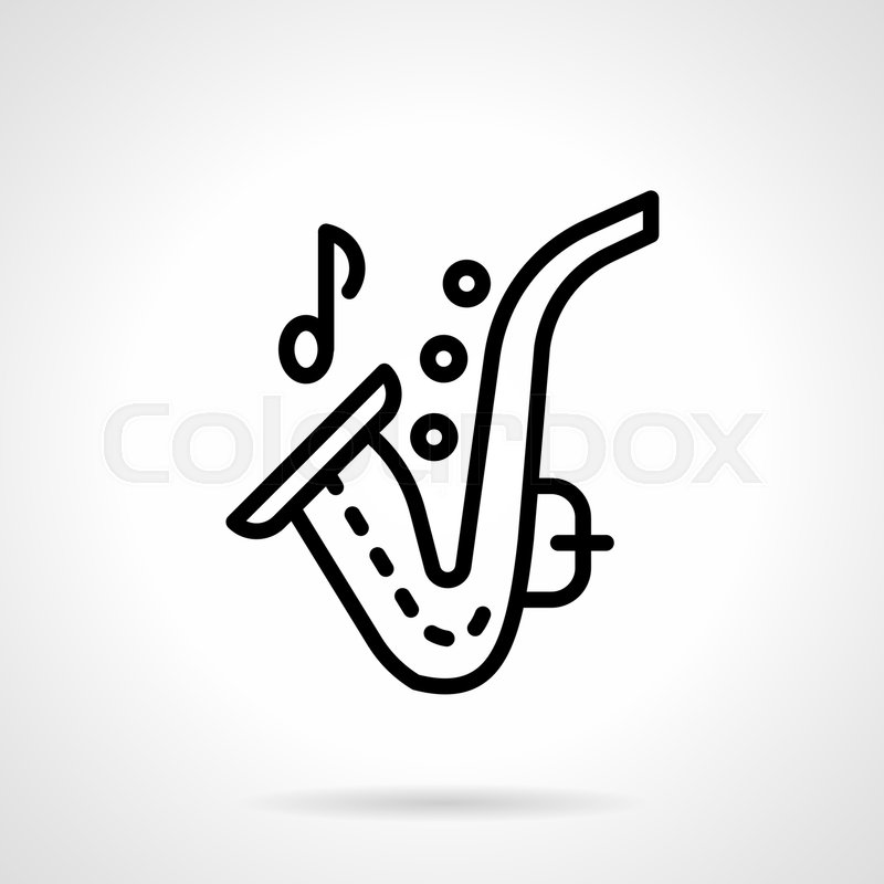Wind Music Concept Symbol Of A Saxophone With One Note For Musical
